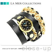 ラメールコレクションレザーレディース腕時計LMMULTI2016LAMERアイスランディック