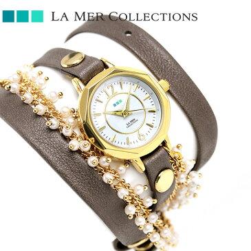 ラメール コレクション レザー レディース 腕時計 MILANACAP3404 LA MER マーティン イラナ カプセル 時計