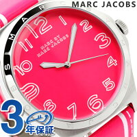 マークバイマークジェイコブスヘンリートロンプ時計ピンク×ホワイトレザーベルトMARCbyMARCJACOBSMBM1231