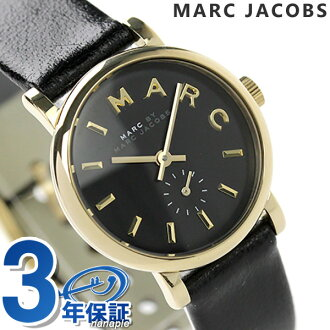 Mark by MARC BY marc jacobs Baker clock Small second Lady's black leather belt MARC by MARC JACOBS MBM1273