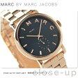 マーク バイ マーク ジェイコブス ベイカー レディース MBM3330 MARC by MARC JACOBS 腕時計 クオーツ スモールセコンド ネイビー×ピンクゴールド