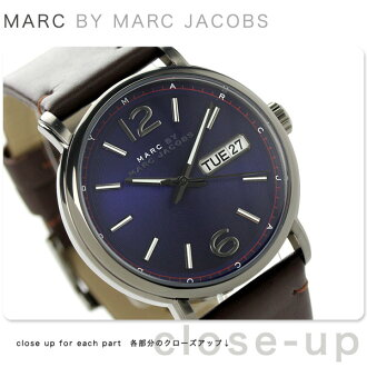 Mark by Mark Jacobs Fergus MBM5078 MARC by MARC JACOBS men's watch quartz purple x brown leather belt