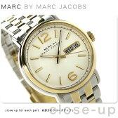マーク バイ マーク ジェイコブス ファーガス メンズ MBM5079 MARC by MARC JACOBS 腕時計 クオーツ シルバー×イエローゴールド【あす楽対応】
