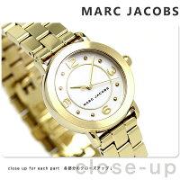 マークジェイコブスライリー28レディース腕時計MJ3473MARCJACOBSホワイト×ゴールド