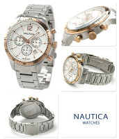 ノーティカクロノグラフメンズ腕時計A19618GNAUTICABFD104スポーツクロノクラシッククオーツシルバー