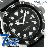 ノーティカNSR100FLAGクオーツメンズ腕時計NAI09509GNAUTICAオールブラック