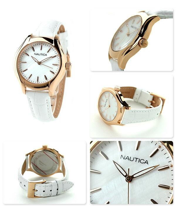 ノーティカ NCT 18 ミッドサイズ レディース 腕時計 NAI12003M NAUTICA ホワイトシェル×ホワイト 時計
