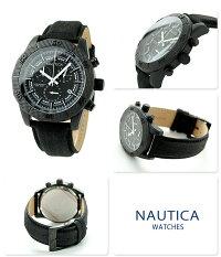 ノーティカNST11クオーツメンズ腕時計NAI17520GNAUTICAオールブラック