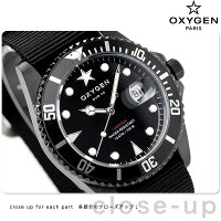 オキシゲンダイバー40クオーツ20mmMBB-40-BL腕時計OXYGENモビーディックブラック