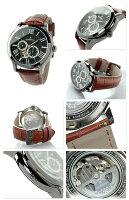 オロビアンコタイムオラロマンティコ日本製メンズOR-0035-3Orobianco腕時計ブラック×ブラウン