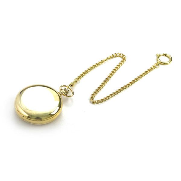 【当店なら!さらにポイント+4倍】 ラポート 懐中時計 デュアルタイム サン&ムーン ダブルハンターケース イギリス製 手巻き PW40 ゴールド 時計