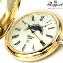 【今ならポイント最大35倍】 ラポート 懐中時計 クオーツ デミハンター ムーンフェイズ PW80 Rapport ポケットウォッチ クリーム×ゴールド 時計・・・