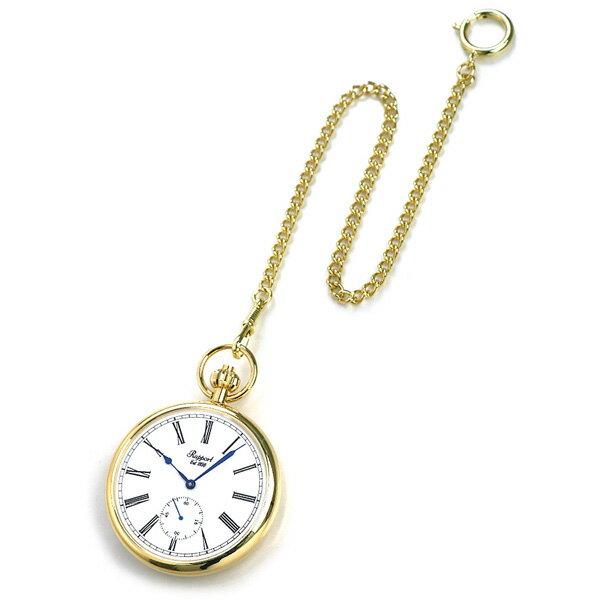 【当店なら!さらにポイント+4倍】 ラポート 懐中時計 スモールセコンド オープンフェイス イギリス製 手巻き PW94 Rapport ゴールド 時計