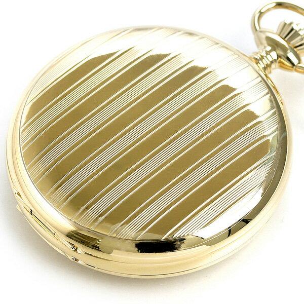 【当店なら!さらにポイント+4倍】 ラポート 懐中時計 オープンハート ダブルハンターケース イギリス製 手巻き PW98 Rapport ゴールド 時計