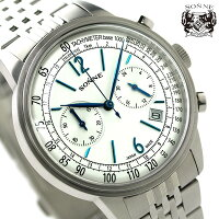 ゾンネヒストリカルコレクションクロノグラフメンズHI002SVSONNE腕時計シルバー