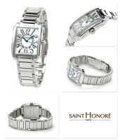 サントノーレマンハッタンスイス製レディースSN7221051YFBSAINTHONORE腕時計クオーツホワイトシェル