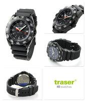 トレーサートルネード・プロラバーベルトメンズ腕時計9031567traserブラック