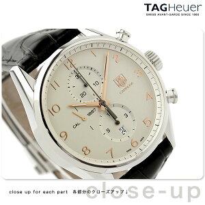 タグホイヤー 腕時計 メンズ 自動巻き キャリバー1887 カレラ クロノグラフ 43MM シルバー×ブラック レザーベルト TAG Heuer CAR2012.FC6235 新品【あす楽対応】