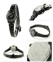 ツモリチサトこまねきねこレディースSILCAA07tsumorichisato腕時計オールブラック