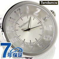 テンデンスフラッシュLEDバックライトTG530005TENDENCE腕時計クオーツシルバー×ホワイト
