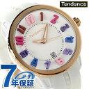 テンデンス ガリバー ラウンド レインボー 日本限定モデル TG930113R TENDENCE 腕時計 クオーツ ホワイト×ローズゴールド 時計
