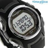 タイムピース 電波ソーラー デュアルパワー メンズ 腕時計 TPW-001BK ブラック【あす楽対応】