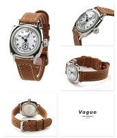 ヴァーグウォッチ腕時計レディーススモールセコンドクッサンホワイト×ブラウンレザーベルトVAGUEWATCHCo.CO-S-001