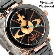 ヴィヴィアン・ウエストウッド 腕時計 レディース ブラック×ピンクゴールド セラミックベルト Vivienne Westwood VV067RSBK