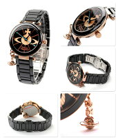 ヴィヴィアン・ウエストウッド腕時計レディースブラック×ゴールドセラミックベルトVivienneWestwoodVV067RSBK