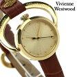 ヴィヴィアン・ウエストウッド 腕時計 レディース ゴールド×ブラウン レザーベルト Vivienne Westwood VV082GDTN