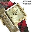 ヴィヴィアン・ウエストウッド 腕時計 レディース ゴールド×チェック柄 レザーベルト Vivienne Westwood VV087GDBR