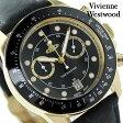 ヴィヴィアン・ウエストウッド バービカン クロノグラフ VV118BKBK Vivienne Westwood メンズ 腕時計 クオーツ ブラック レザーベルト