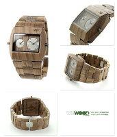 ウィーウッドジュピターRSデュアルタイム木製腕時計9818073WEWOODナット