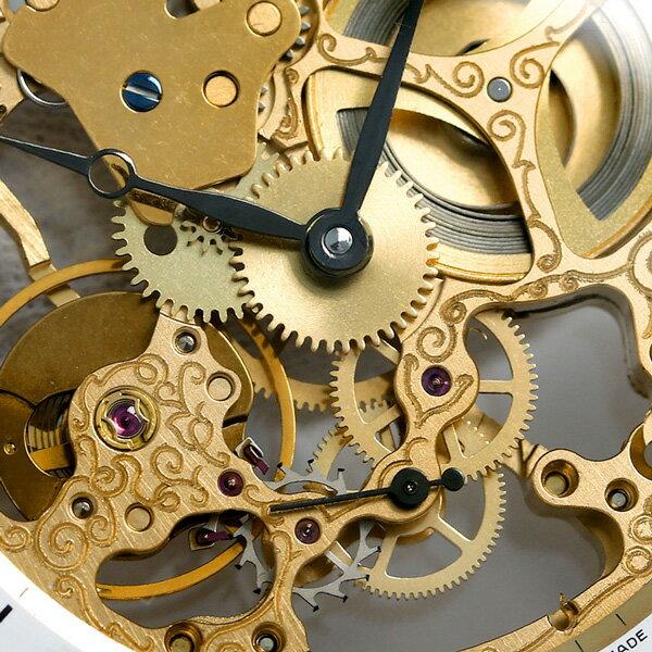 ゼノウォッチ ZENO WATCH 懐中時計 スケルトン スイス製 手巻き ZT-L213S-Pgr-i2 ゴールド 時計