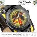 【ワケありアウトレット】エド・ハーディー Ed-Hardy メンズ 腕時計 グラディエーター2 ブラック×イエロー GL2-PT 時計【あす楽対応】