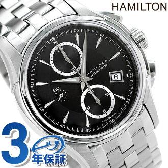 Hamilton self-winding watch jazz master automatic Kurono men H32616133 HAMILTON watch Jazzmaster Auto Chrono black