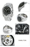 HAMILTONハミルトンKhakiFieldAutoフィールドオートマチックメンズ腕時計ブラックH70515137