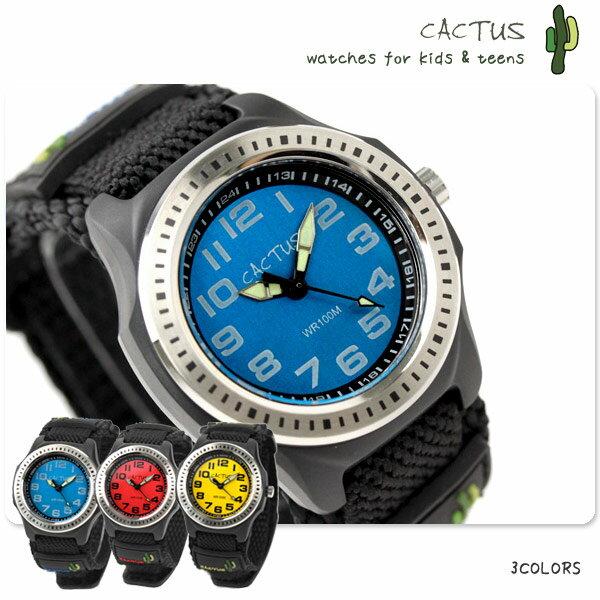 16e56730f1 CACTUS カクタス キッズ 100M防水 子供用 腕時計 ナイロンベルト CAC-45.
