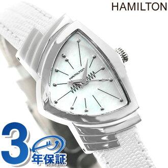 HAMILTON Hamilton VENTURA lady Ventura Lady's mother of pearl watch H24211852