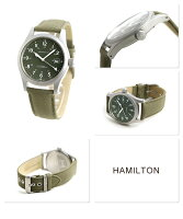 HAMILTONハミルトンKHAKIFieldMechanicalOfficerカーキフィールドメカオフィサーメンズ腕時計カーキキャンバスベルトH69419363