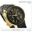 MICHAEL KORS マイケル コース レディース 腕時計 クロノグラフ ブラック×ゴールド ラバーベルト MK5191【あす楽対応】