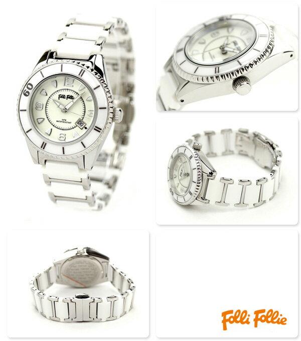 フォリフォリ Folli Follie 腕時計 レディース セラミック ホワイト WF4T0015BDW 時計