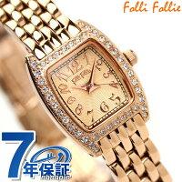 フォリフォリFolliFollie腕時計レディースジルコニアピンクゴールドWF5R142BPP