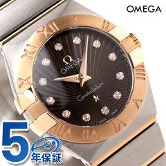 OMEGA オメガ レディース 腕時計 コンステレーション ブラッシュ ローマ数字 ダイヤモンド ブラック ピンクゴールドコンビ 123.20.24.60.63.001 【新品】