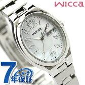 【キャンドル付き♪】シチズン ウィッカ ソーラー レディース オーバル 腕時計 CITIZEN wicca ホワイト×シルバー KH3-118-91