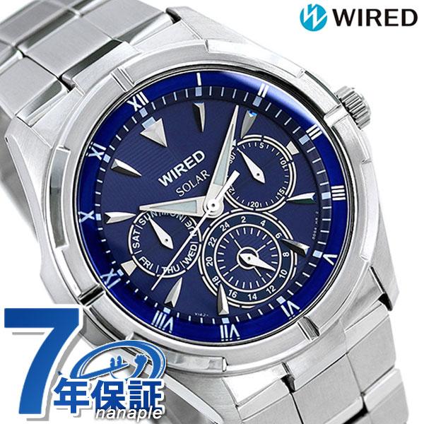セイコー ワイアード SEIKO WIRED ソーラー メンズ 腕時計 AGAD033 ブルー 時計