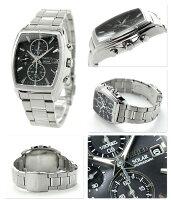 セイコーワイアードクロノグラフソーラーメンズAGAD054SEIKOWIRED腕時計ニュースタンダードブラック