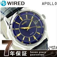 セイコーワイアードニュースタンダードソーラーAGAD068SEIKOWIRED腕時計ネイビー