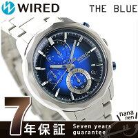 セイコーワイアードザ・ブルークロノグラフ腕時計AGAT410SEIKOWIREDブルー