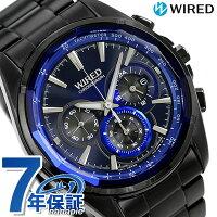 セイコーワイアードリフレクション2クロノグラフAGAV102SEIKOWIREDメンズ腕時計クオーツブルー×ブラック